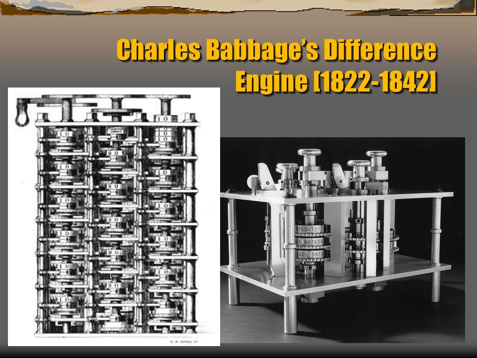 Charles Babbage's Difference Engine [1822-1842]